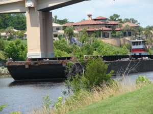 Barges get the right of way!