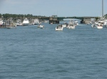 The weekend boating crowd