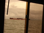 Storms & BIG ships on Delaware Bay