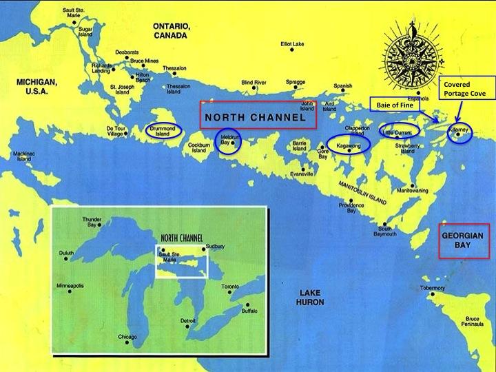 Benjamin Islands North Channel Map