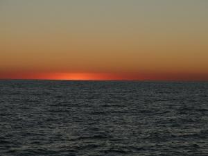 Sun setting on the Gulf