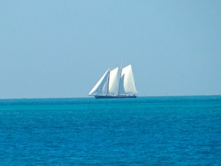 Sailing ship of yore cruising Hawk Channel