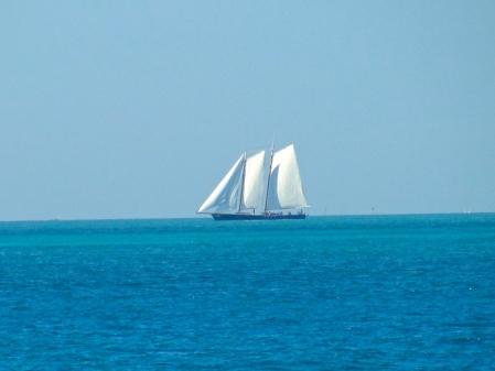 Sailing ship of yore cruising Hawk Channel
