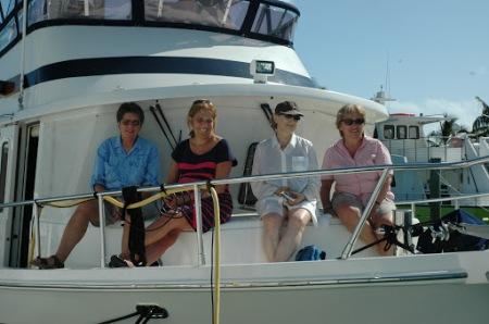 Carolyn with Anita, Linda and Shirley visiting the Shirley Ruth